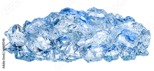 Crushed ice cubes isolated on white background - 66141548