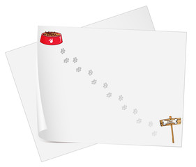 Empty stationery papers