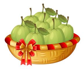 A basket of guavas
