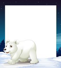 An empty template with a polar bear
