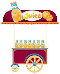 A pushcart selling orange juice