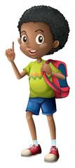 A Black schoolboy