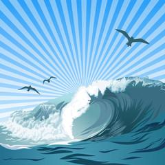 Sommer Ozean Welle