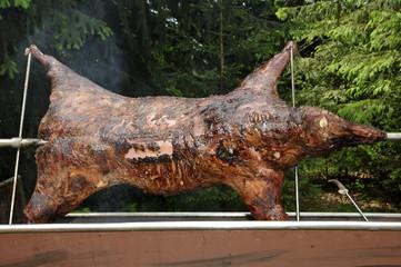 Wildschwein grillen