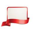 Schild mit Banderole - Rot