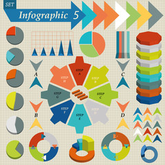 Infographics Elements Set For Business - vector format