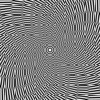 Illusion of rotation movement. Abstract op art background.