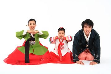Family in Korean Dress