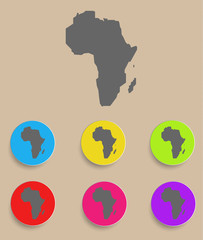 Africa Map - icon isolated. Vector