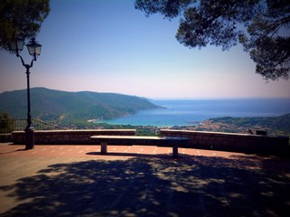 Panoramic viewpoint in San Piero, Elba island