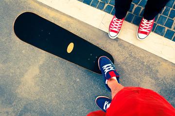 skateboarder battle