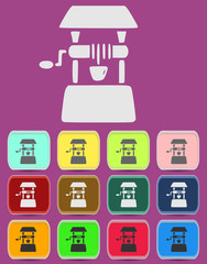 Well icon Illustration with Color Variations