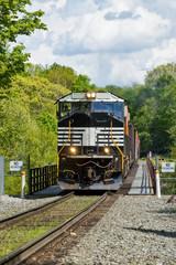 Crossing The Railroad Trestle