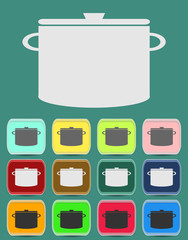 Cooking pan icon. Vector illustration