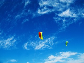 Blue sky and kites