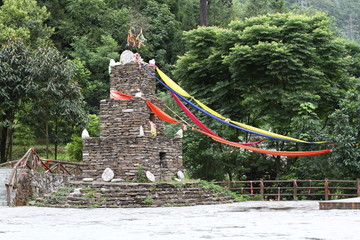 Chinese Qiang ethnic stone tower