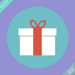 Gift box - vector illustration. Flat design element