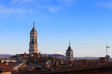 The city of Ivrea before the famous carnival, Italy