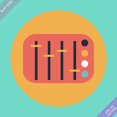 Mixing console faders - vector illustration. Flat design element