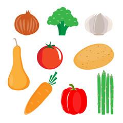 Heart healthy vegetable vector