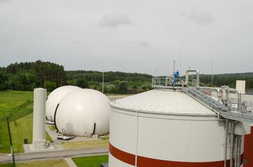 biogas plant sludge renewable energy process