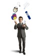 Juggler businessman