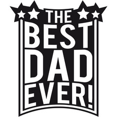 The Best Dad Ever Logo