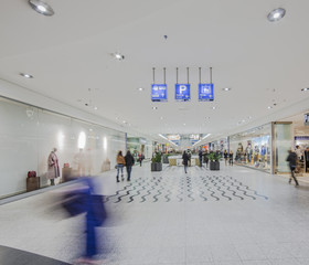 hall in supermarket