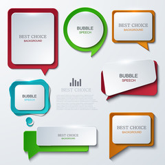 Vector modern bubble speech icons set.