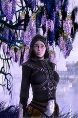 Fantasy rogue girl