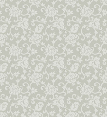 Floral ornament seamless vector background