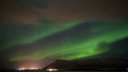 Time lapse from the Aurora Borealis over Iceland