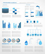 Water infographics. Information Graphics. Vector illustration