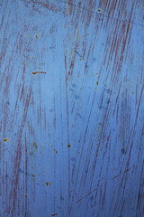 Rusted blue painted metal wall. Detailed photo texture
