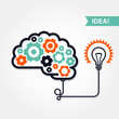 Business idea or invention icon -  brain