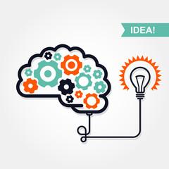 Business idea or invention icon -  brain