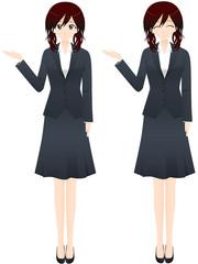ビジネス女性 案内1
