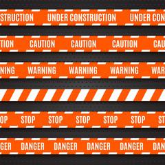 Set of warning tapes