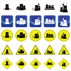 nuclear power plant graphic vector