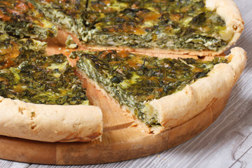 tasty and healthy chopped spinach pie
