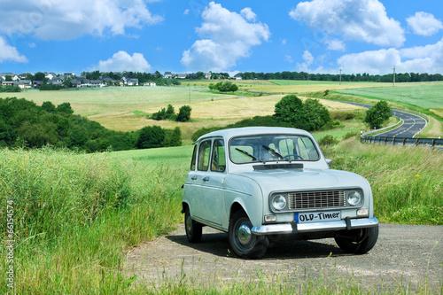 Poster Vintage cars Renault R4 Oldtimer
