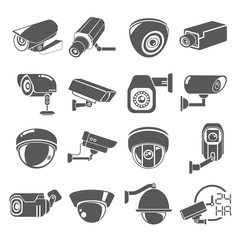 cctv icons, Video surveillance