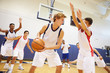 Male High School Basketball Team Playing Game - 66155387