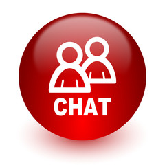 chat red computer icon on white background