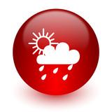 rain red computer icon on white background