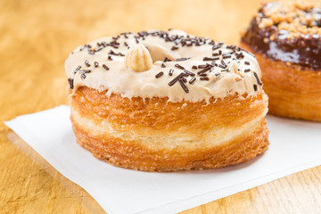 almond and chocolate cronut