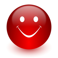 smile red computer icon on white background