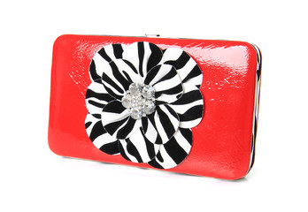 Red clutch hand bag