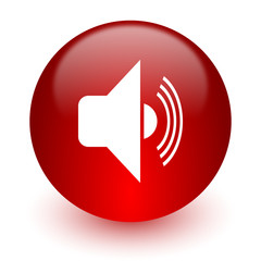 volume red computer icon on white background