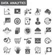 web analytics icons, data analytics icons